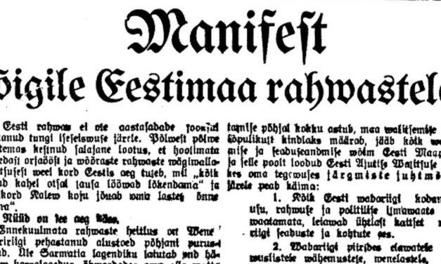 Le 24 février, fête nationale estonienne
