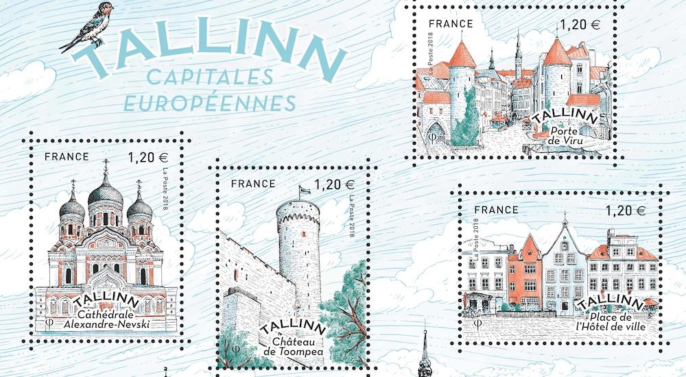 Une série de timbres français sur Tallinn