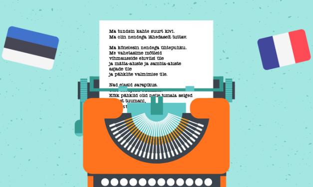Concours de traduction poétique de l'estonien vers le français