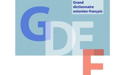 Le Grand dictionnaire estonien-français disponible en téléchargement
